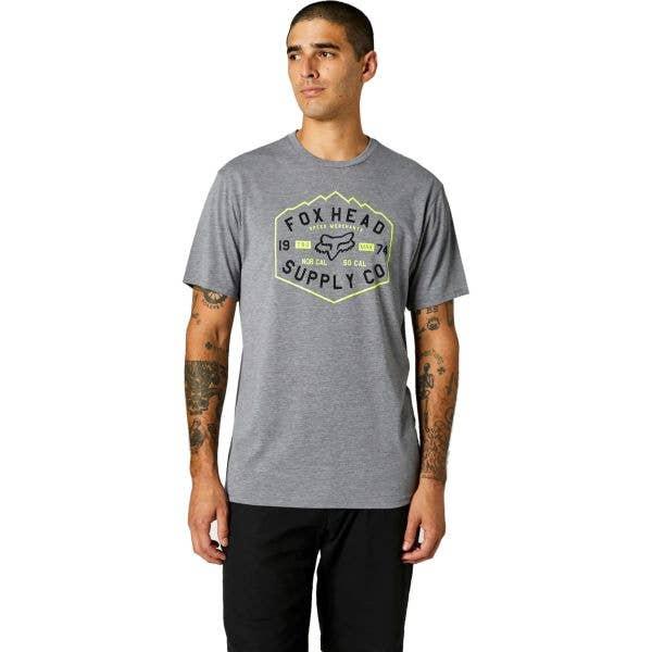 Fox Backbone Tech T Shirt - Heather Graphite