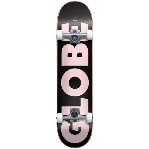 Globe G0 Fubar Complete Skateboard - Black/Pink 8''