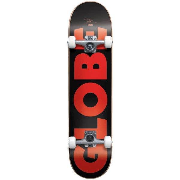 Globe G0 Fubar Complete Skateboard - Black/Red 7.75''