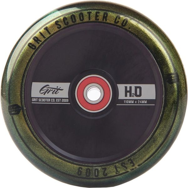 Grit H20 Hollow Core Scooter Wheel 110mm - Black/Gold