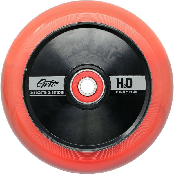 Grit H2O Hollow Core Scooter Wheel 110mm - Pink / Black