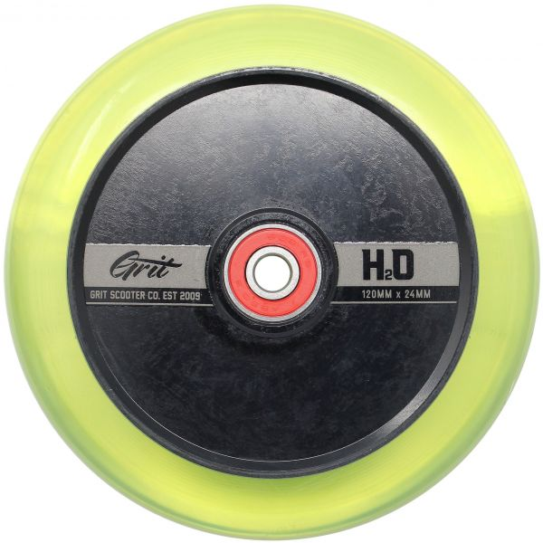 Grit H2O Hollow Core Scooter Wheel 110mm - Clear / Black