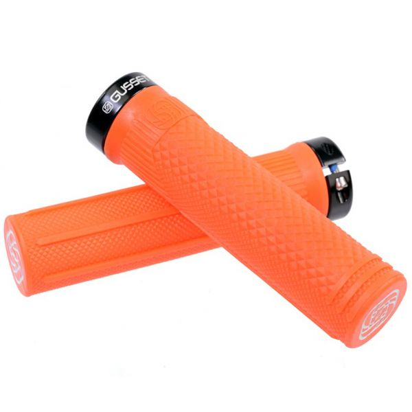 Gusset S2 Lock on Extra Soft Scooter Grips - Fluo Orange