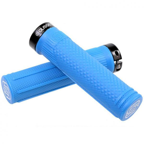 Gusset S2 Lock on Scooter Grips - Blue
