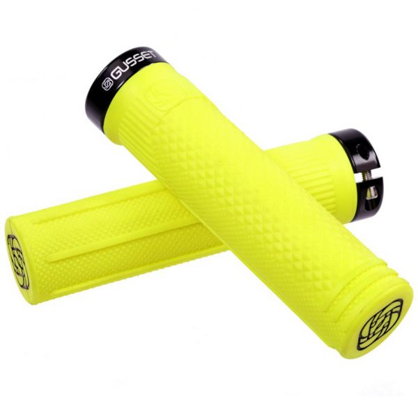 Gusset S2 Lock on Scooter Grips - Fluo Yellow