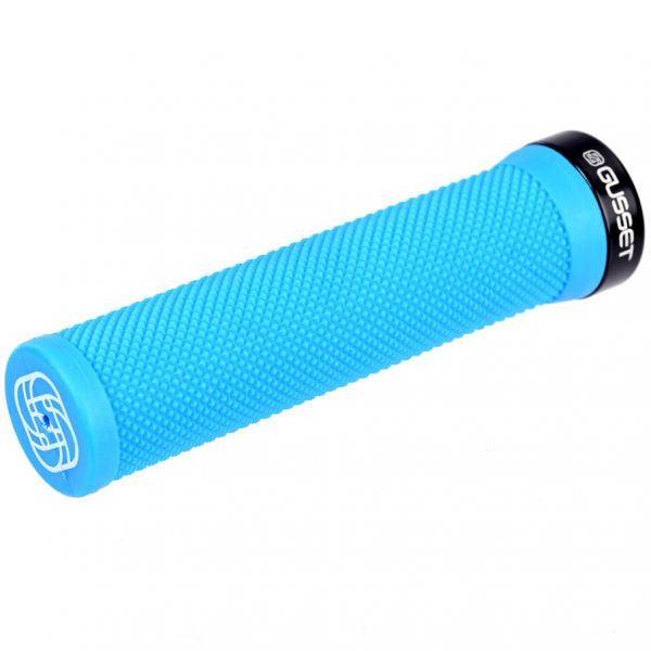 Gusset Single File Scooter Grips - Blue