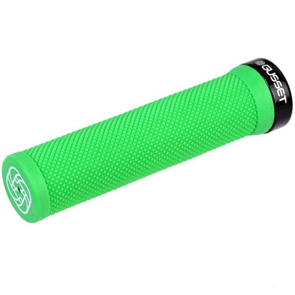 Gusset Single File Scooter Grips - Green
