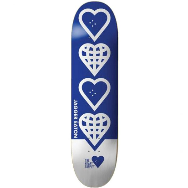 The Heart Supply Jagger Eaton World Skateboard Deck - Blue 8.25''