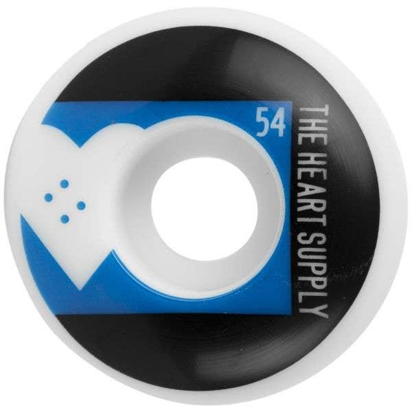 The Heart Supply Even Skateboard Wheels - Royal Blue 54mm