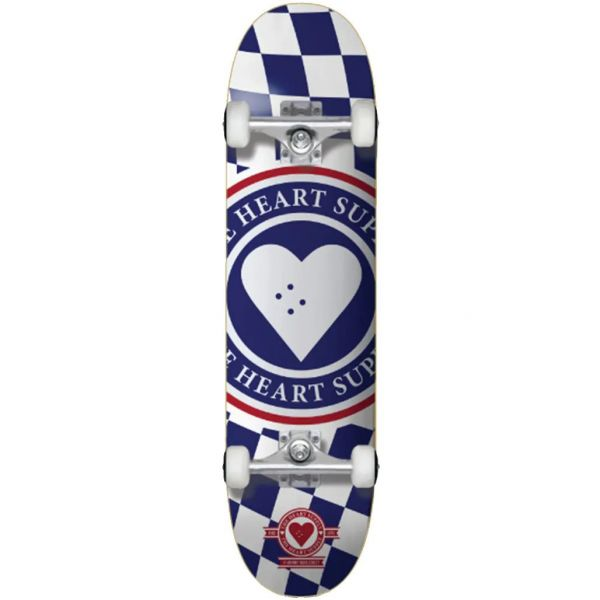 The Heart Supply Insignia Check Complete Skateboard - Blue 8''