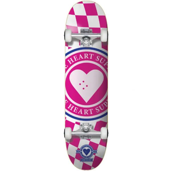 The Heart Supply Insignia Check Complete Skateboard - Pink 7.75''