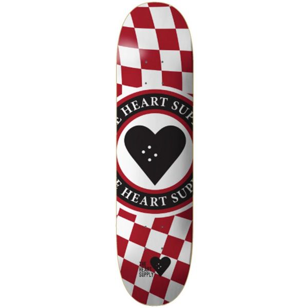 The Heart Supply Insignia Check Skateboard Deck - Red 8.25''