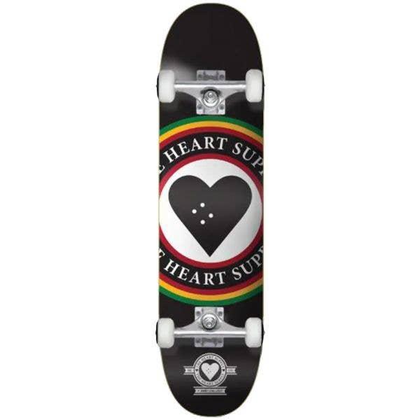 The Heart Supply Insignia Complete Skateboard - Rasta 8''