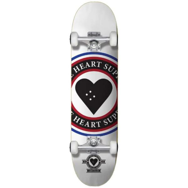 The Heart Supply Insignia Complete Skateboard - White 8.25''