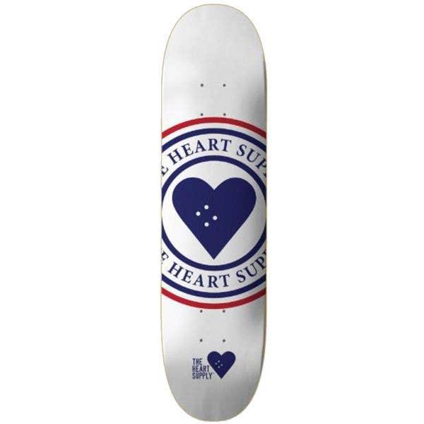 The Heart Supply Insignia Skateboard Deck - White 8.25''