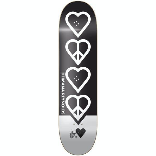 The Heart Supply Heimana Reynolds Peace Skateboard Deck - Black 8.25''
