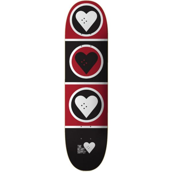 The Heart Supply Squad Skateboard Deck - Black/Red 8.375''