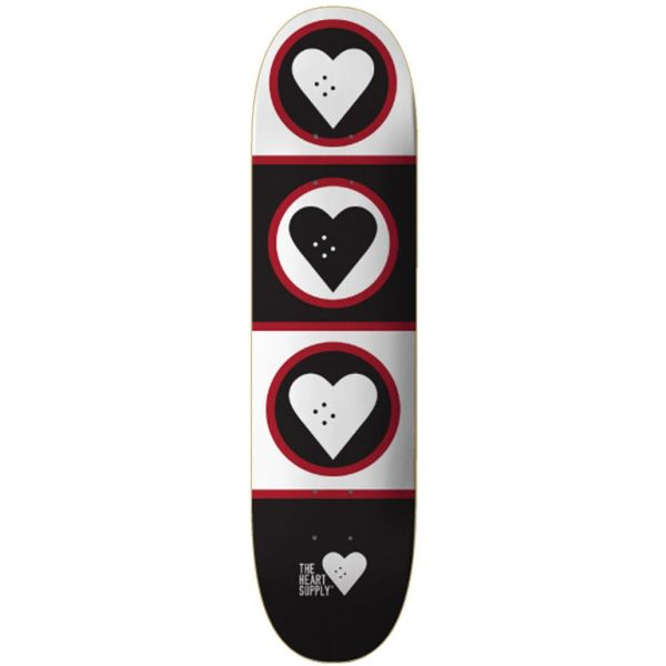 The Heart Supply Squad Skateboard Deck - Black/White 8.5''