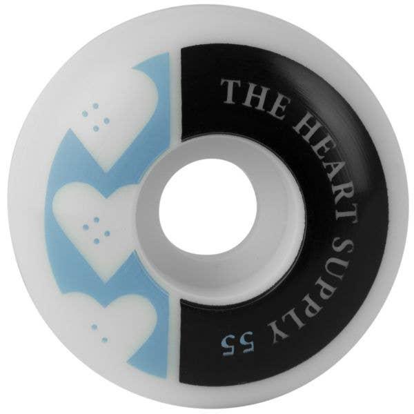 The Heart Supply Squad Skateboard Wheels - Kelly Blue 55mm