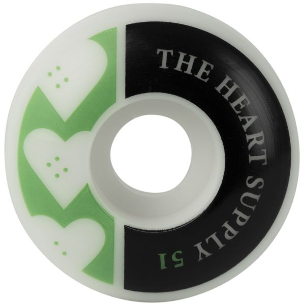 The Heart Supply Squad Skateboard Wheels - Kelly Green 51mm