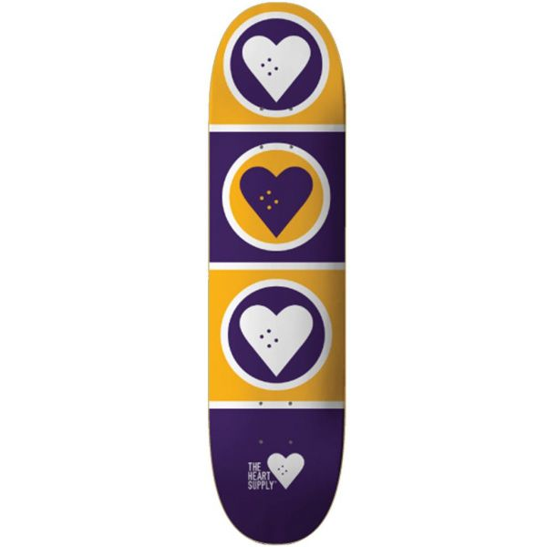 The Heart Supply Squad Skateboard Deck - Kobe (Yellow/Purple) 8.125''