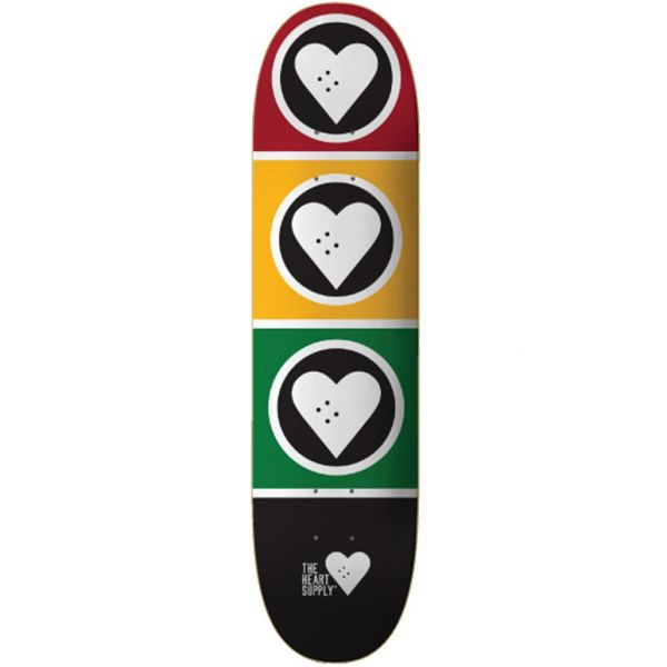 The Heart Supply Squad Skateboard Deck - Rasta 8.125''