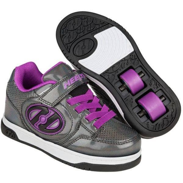 Heelys Plus X2 Lighted - Black Sparkle/Purple