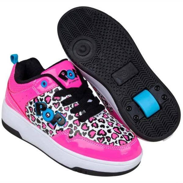 Heelys POP Contend - Neon Pink/Black/White/Hearts