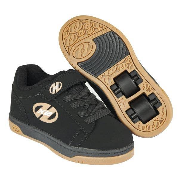 Heelys X2 Dual Up - Black/Gum