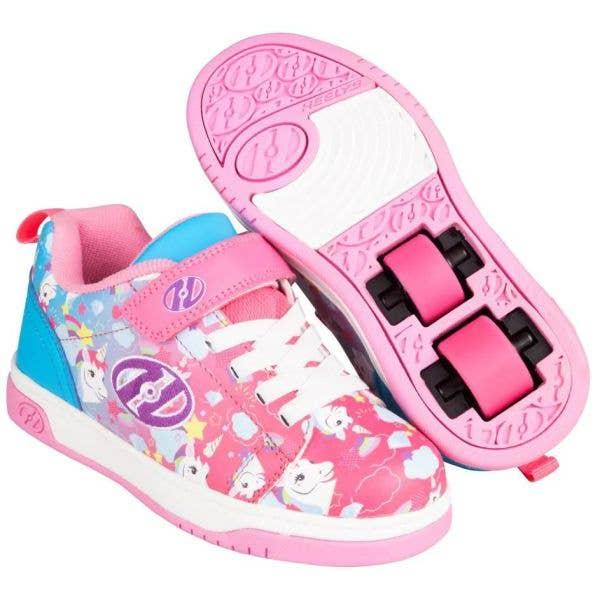 Heelys Dual Up X2 - Neon Pink/Cyan/Purple Unicorn