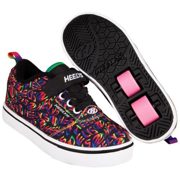 Heelys Pro 20 X2 - Black/Rainbow Heelys Repeat