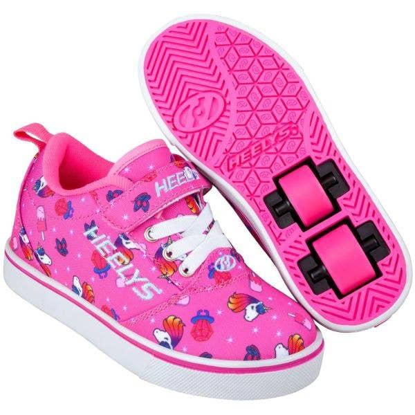 Heelys X2 Pro 20 - Pink/Hot Pink Unicorns