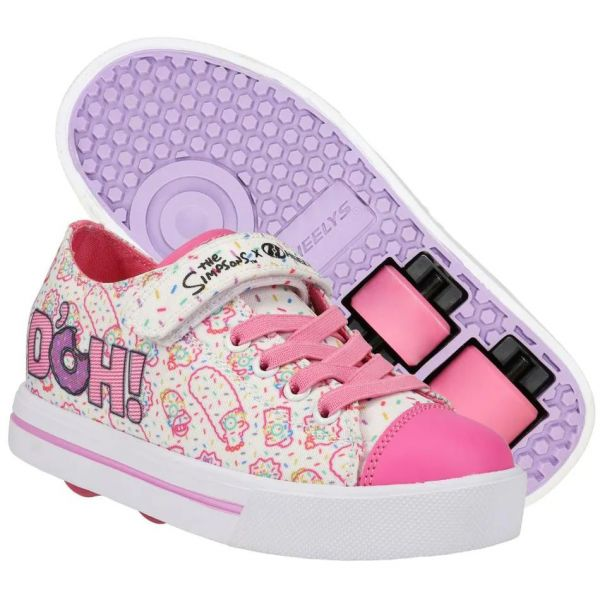 Heelys x Simpsons Snazzy - White/Pink/Lavender
