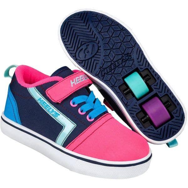 Heelys X2 GR8 Pro - Navy/Pink/Cyan