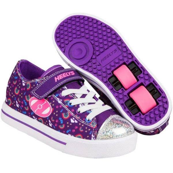 Heelys Snazzy X2 - Purple/Multi/Rainbow
