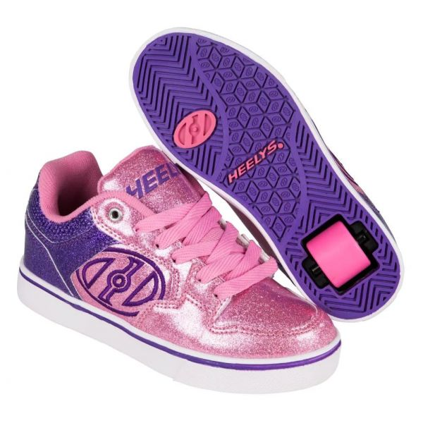 Heelys Motion Plus - Purple/Pink Glitter