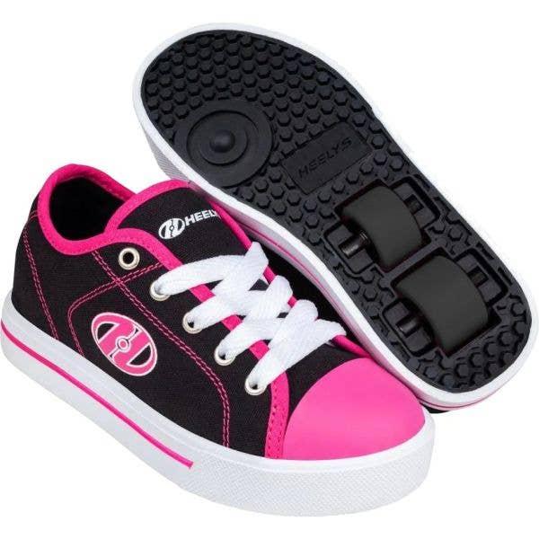 Heelys X2 Classic - Black/White/Hot Pink