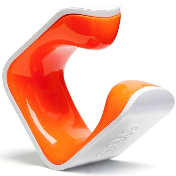 Hornit Clug Hybrid Bike Rack - White/Orange MED