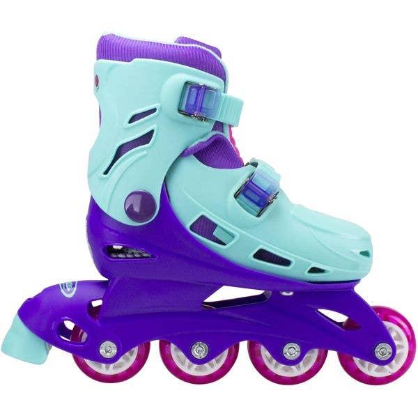 Hudora Littlest Pet Shop Adjustable Roller Blades - Blue/Purple (UK 11 - UK 1)
