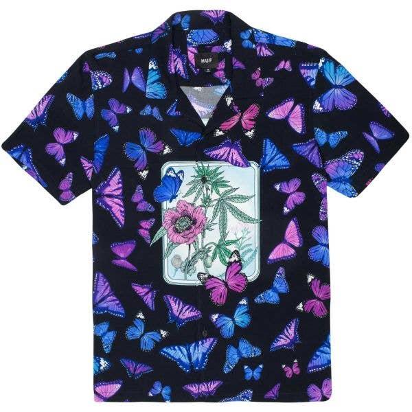 Huf Papillon Woven Shirt - Black