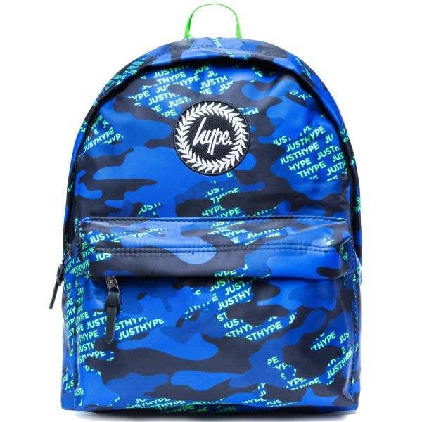 Hype Neon Logo Camo 18L Backpack - Multi