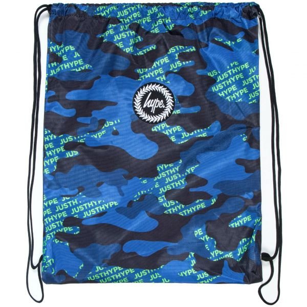 Hype Neon Logo Camo Drawstring Bag - Multi