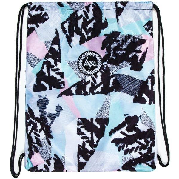 Hype Pastel Abstract Drawstring Bag - Multi