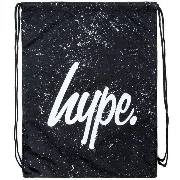 Hype Speckle Drawstring Bag - Black/White