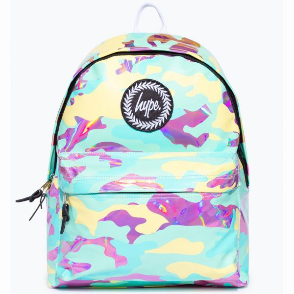 Hype Pastel Holo Camo 18L Backpack - Multi