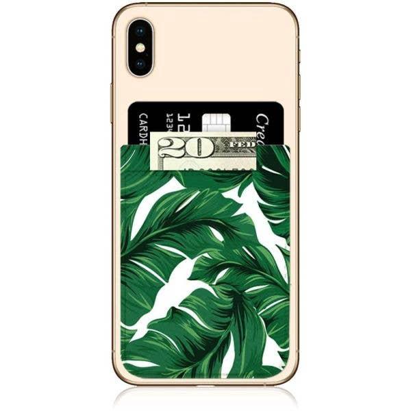 IDecoz Faux Leather Phone Pocket - Banana Leaf