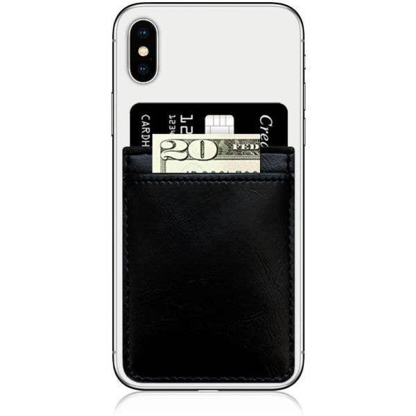 IDecoz Faux Leather Phone Pocket - Black