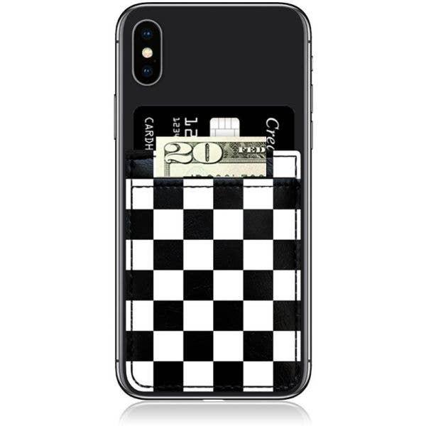 IDecoz Faux Leather Phone Pocket - Checkered