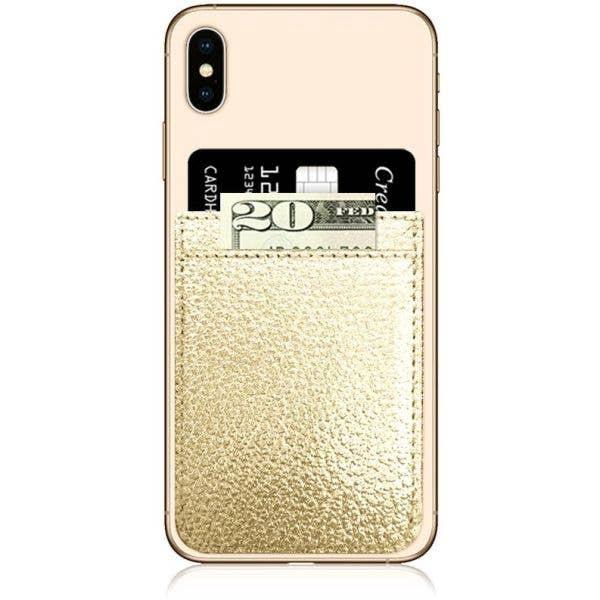 IDecoz Faux Leather Phone Pocket - Gold