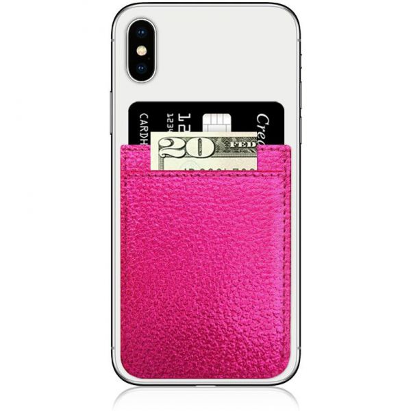 IDecoz Faux Leather Phone Pocket - Hot Pink
